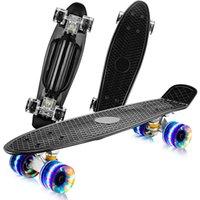 Blinkende Räder einzelner Rocker 22 Zoll Kinder Skateboard Mini Cruiser Penny Board max 100kg Last Lager Skateboarding