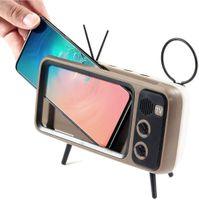 Akıllı TV Tasarım Retro Bluetooth Hoparlör Telefon Tutucu TF Kart FM MP3 Ses Müzik Çalar Kablosuz Taşınabilir Eksik Zaman Sürümü