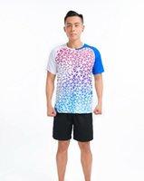 축구 세트 남성 배드민턴웨어, 탁구 셔츠 반바지, 폴리 에스터 통기성 및 빠른 건조 티셔츠