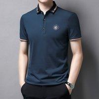 Erkek Polo Gömlek 2021 Yaz Yeni Iş Yaka Nakış Kısa Kollu T-Shirt Ince Casual Menwj9i için Rahat Rahat Top