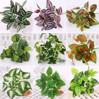 Artificial Plastic Plant Green Tree For Garden Wedding Decoration Fake Leaves Christmas Decorative Flowers & Wreaths
