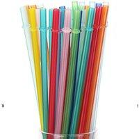 متعدد الألوان الصلبة pp البلاستيك القش شريط قابلة لإعادة الاستخدام والحزب البلاستيك الشرب القش البيئة FDA 9.5in NHD6463