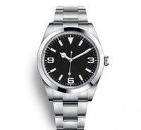 Мужские часы из нержавеющей стали из нержавеющей стали сплошной оригинальной пряжкой спортивный сапфир большой циферблат автоматическое движение досуга и развлечения простые воздушные часы King Mens