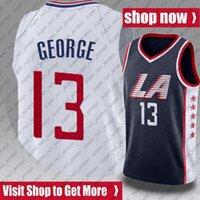 Kawhi 2 Баскетбол Леонард Джерси Павел 13 Джордж Джордс Лос ЛосАнджелесВыжиманиеДжерси AS98XCV98B.