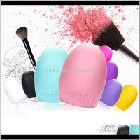 Brushes 8Colors Cleaning Glove Makeup Washing Scrubber Board Brushegg Sile Cosmetic Brush Egg Ywkcf Ecv85