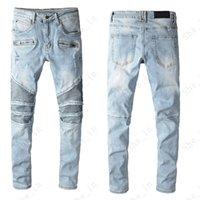 Jeans pour hommes mode moderne style preppy style couleur lumière déchirée denim pantalon hommes branchement modèle de lettre de haute qualité pantalon de haute qualité