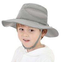 Caps & Hats Cotton Fisherman Spring Autumn Thin Baby Bucket Hat Solid Color Kids Summer Toddler Boys Girls Panama Sun Cap