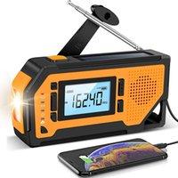 ENTLICHE Solar Hand Kurbel Radio AM / FM / NOAA Wetter Tragbare Überleben mit LED-Taschenlampe Handy-Ladegerät SOS