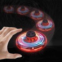 LED leuchtender Wirbel-Wurglingzauberkugel-Induktions-Suspension Fingerspitzen-Gyro-Dekompsion UFO fliegendes Spielzeug30NA