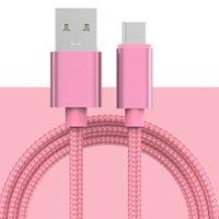 1m Lenth-Nylon-Gewebeverpackung Fast Charging 3A USB zum Typ-C-Micro-USB-Ladung und Transferdatenkabel für Samsung Huawei Xiaomi Oppo vivo