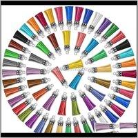 سلاسل المفاتيح موضة الديكورترأكيمتر 120 أجزاء الشرابة الملونة سلسلة المفاتيح السائبة الشرابة الشرابة المعلقات أقراط ل diy مفتاح حلقات الحرفية