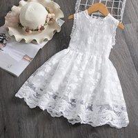 3 8t Kids White For Girl Dress Girls Summer Flower Sleeveless Party Pageant Prom Dresses Ceremony Gown