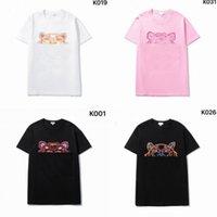 21 ss Herren Womens Designer T Shirts Stickerei Tiger Mode Männer Casual Tshirt Mann Paris Frankreich Straße Shorts Marken Sleeve Clothing Tshirts