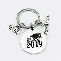 keychain Oeinin Arrtracive Key Ring For Men women Simple Letter Chain, 2021 Graduation Season Gift chain Stainless Steel Brelok