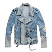 Herren Jeansjacke Designer Men Denim Outfit Man S Bekleidung Luxu Mantel High Street Mode Kleidung Hip Hop Wear