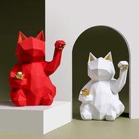 Nouvelle couleur mat Coup de chance Cat Sculpture de chat Décoration maison Salon Salon Decor Mobilier de bureau Artisanat