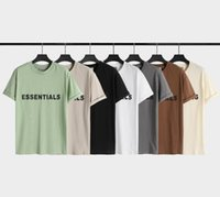 Essentials T-shirt Mode Stil Feste Farbe Männer T-Shirts Polos Jeans + Legging passende Frauen Kleidung Kurzarm T-Shirt Größe S-XL