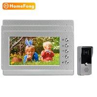 Homefond-Intercom-Video-Türsprechanlage 1000TVL Call Panel Nachtsicht 1 Türklingel 3 Monitore 7 Zoll Zwei Way-Telefone