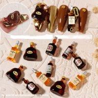 Nail Art Wine Bottle Jewelry Wholesale Mini Stereo Wine Red Wine DIY Shiny Nail Sticker Rhinestone Accessories