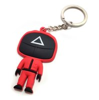 Backpack Mobile Phone Strap pendant resin doll keychain hand-made vinyl collection custom movie figure Korea Squid Game Key Chain