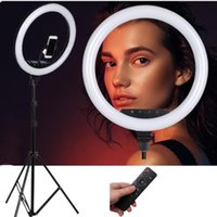 Flash Heads 14 18inch Po Studio Lighting LED Ring Light Large Lamp With Stand Tripod For Phone Portrait,Makeup,Video