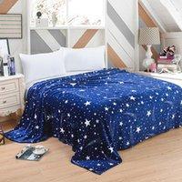 Blankets Quality Blanket Super Fleece Soft Warm Solid Micro Plush Flannel Star Throw Rug Sofa Bedding Bedspread Winter #Y1
