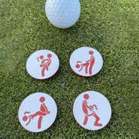 Golf Training Aids 4Pcs Set Creative Ball Marker Innovative Printed Pattern Wood Perfect Match Position Marks Ornamnet For Accessory
