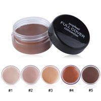 Top-Verkäufer-volle Abdeckung Concealer 5 Farben Natürlicher dunkler Kreis Entfernung Erhellen Gesichts-Make-up