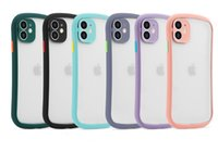 Fashion Small pretty waist Cases Matte Clear Phone Case Transparent Skin Feel Back Cover Protector for iPhone 12 mini pro max