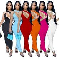 wholesale items womens sleeveless evening dresses one piece set sexy y2k dress high quality elegant luxury club wear women summer clothes klw7221