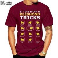 Men's T-Shirts Stubborn Keeshond Dog Tricks Funny Men Short Sleeve Tees Round Neck Pure Cotton Tops Graphic T Shirt Plus Size