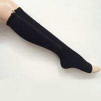 Женские сжатия Zip Up носки для похудения для похудения ногой ногой 50pair / lot