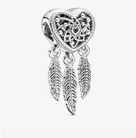 Mode 925 Sterling Silver Silver Diy Fine Comme Arbre de vie Perles de forme ronde Fit Pandora Bracelet Bracelet Bijoux Fabrication 562 Q2