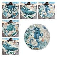European and American adult microfiber Blanket Ocean series beach towel Octopus seahorse turtle cute 4 style Y11875