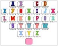 Полотенце вышивка мультфильм красочные буквы Chenille Patch Fabric Custom Sever на радуги цветов писем стикер лоскутное я люблю тебя NHD7269