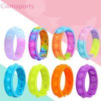 Pulsera de juguete de descompresión 8 Estilo Press Bubble Bubble Color fotosensible Puzzle SensoryToy para niños Fidget Vent.