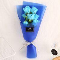 창조적 인 꽃다발 장미 꽃 시뮬레이션 비누 파티 웨딩 발렌타인 데이 어머니의 날 교사 선물 장식 꽃 1940 v2