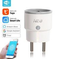 Smart Home Control Mini Tuya Plug Power Wifi Socket With Monitor Switch Remote Timer Outlet Workes Alexa Echo Google