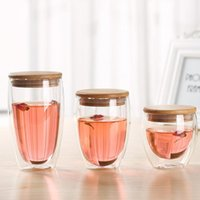 Tasse Bodum Cups Milk Coffee Large Glasses High Boron Silicon Double-deck Big Transparent Travel Mug Double Wall Glass With Lid Wine