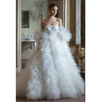 Princess Wedding Dress Sequins Zipper Off Shoulder Layered Ruffles Robe De Mariee Custom Made Long Sleeves Floor Length Boho Bride Gown
