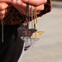 Love Ring Hiphop Versatile Red And Black Butterfly Necklace Harajuku Style Men's Women's Accessories Pendant