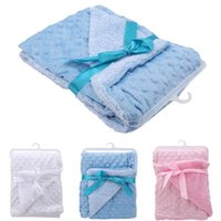 Blankets & Swaddling Baby Blanket Born Thermal Soft Fleece Solid Bedding Set Cotton Sleeping Warp With High Quality