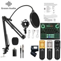 GAX V9 Live Broadcast Condenser Microphone bluetooth Mixer Audio Sound Card Recording K Song Game Computer PC Phone streaming 210610