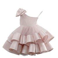 Girls Dresses Children Clothing Kids Clothes Wedding Summer Princess Dress Tiered Skirts Birthday Party Wear B8538