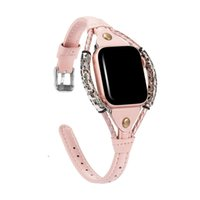 Vintage Bracelet Leather Strap For Apple Watch band 44mm 42mm 40mm 38mm Fashion Handmade Wristbands Iwatch Series 6 5 4 SE Watchband Smart Accessories Loop