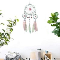 Handmade Dream Catcher Net With Feathers Wall Hanging Dreamcatcher Craft Gift Christmas Decoration For Home - 60cm Decorative Objects & Figu
