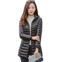 Women's Trench Coats Sell Black Color Medium-Long Female Jacket Winter Woman's Cotton Hooded Coat Fashion Plus Size Slim Wadded Jackets Outw