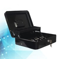 Key Cashier Box Cash Lock Metal Money Mini Safe Register Secure With Coin Tray For Petty Cas Anti-Lost Alarm