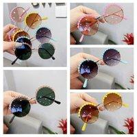 Moda niños gafas de sol encantadora flor frontera niñas niños gafas de sol ultravioleta gafas a prueba de gafas niños pantalones gafas fiesta favor rra4279