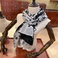 65-180CM Scarves Brand womens senior long Double chiffon silk shawls Fashion tourism soft Designer luxury gift printing Scarf